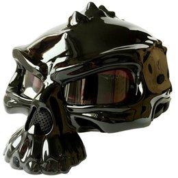 Wholesale El casco esquelético de la manera personalizada se puede usar en ambos lados cascos frescos de la motocicleta de la locomotora de Harley del estilo