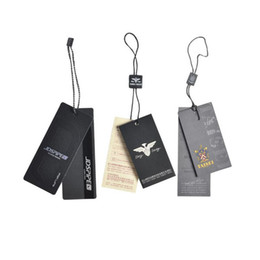 Custom garment hang tags printing for clothes, bags, shoes Swing tags printed in China Hangtags price tags with strings Matte or gloss