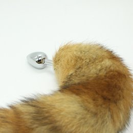 NEW !!! Stainless Steel Attractive Butt Plug Jewelry Jeweled Anal Plugs Rosebud + Fox Tail   dog tail