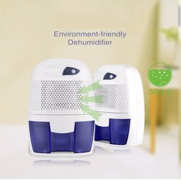 Wholesale 500ml Electric Dehumidifier Dryer Damp Protable Air Dryer Dehumidifier Moisture Absorber Home Bathroom Kitchen Garage V V