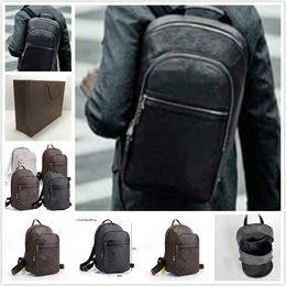 Wholesale Graphite Canvas backpack famous brand luxury women Handbag Classic men knapsack black plaid shoulder bags