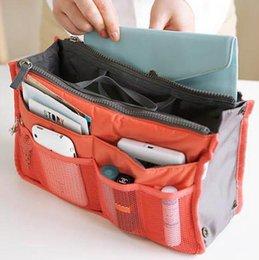 Wholesale Mummy Cosmetic bags Organizer Travel Insert Handbag Purse Women Lady Large liner Organizer Tidy Bag Pouch Storage