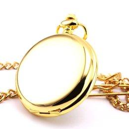 Wholesale Antique Gold Mirror Luxurious Premier Quartz Retro Pocket Necklace Watch P400C