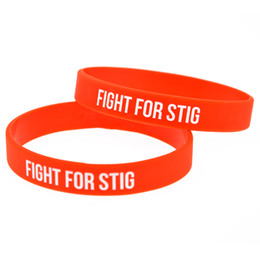 100PCS Lot Fight for Stig Silicone Bracelet It is Soft And Flexible Great For Normal Day To Day Wear