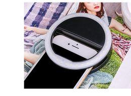 2017 anillo de luz led de la cámara Selfie Flash portátil llevó cámara fotográfica del teléfono Fotografía Luz de aumento de la fotografía para Smartphone rosa y blanco anillo de luz led de la cámara Rebaja