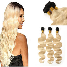 Ombre T1B  613 High Quality Brazilian Hair Weaves 8A Best Quality Virgin Human Hair Extensions 3pcs Grace Hair can be dyed