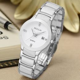 Luxury brand mulilai lady white black gold ceramic watch high quality quartz watch ladies dress fashion exquisite watch