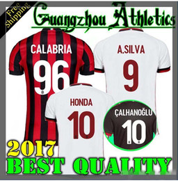 2018 AC Milan third Soccer Jersey 17 18 AC Milan Soccer Shirt Customized #10 CALHANOGLU #9 ANDRE SILVA #19 BONUCCI football uniform Sales