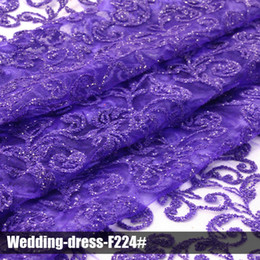 lace glitter sequin fabrics 2016 high quality multi color wedding dress for party