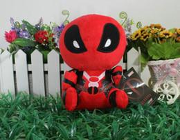 2017 superhéroes juguetes de peluche Deadpool juguetes de peluche Super Hero Marvel Deadpool juguetes de peluche muñeca suave PP algodón 18 cm Deadpool Regalos de muñecas de animales de peluche superhéroes juguetes de peluche Rebaja