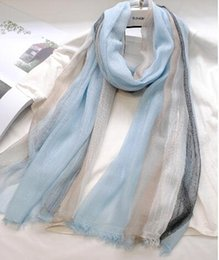 Women Fashionable Scarf Shawls In Spring And Autumn With Striped Scarf South Kore and Accept Custom Made