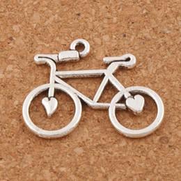Open Heart Bike Bicycle Charms Pendants 100pcs lot 30.6x23.3mm Antique Silver Fashion Jewelry DIY Fit Bracelets Necklace Earrings L264