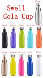 Wholesale The best Swell Cola Shaped Insulated Double Wall Vacuum high luminance Water Bottle oz ml Creative Thermos bottle Vaccum Insulated