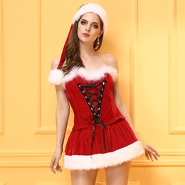 Women Santa Claus M Christmas Santa Claus Style  Stage show costumes