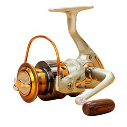 Wholesale 2017 NEW12BB Speed Ratio Metal Spinning Fishing Reel EF1000 Ocean Sea Boat Ice Fishing tackle Aluminum FISHING REEL