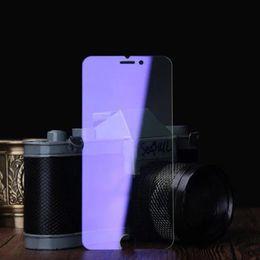 Écrans pourpres en Ligne-Violet version unti lumière bleue Film de verre trempé pour iPhone 5 5s 6 6s 6 7 plus 9H Hard 2.5D Screen Protector avec Clean Tools dhl free