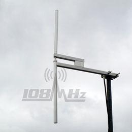 FM Broadcast Radio Dipole Antenna 87.5-108MHz max 1200W  20m cable L16