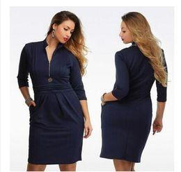 Compra Online Damas mini vestido vestido-XL-4XL Vestidos de partido largos profundos profundos de V de las mujeres más las mujeres del tamaño que arropan el vestido grande del tamaño del vestido de las señoras 2016 El temperamento cultiva su moralidad