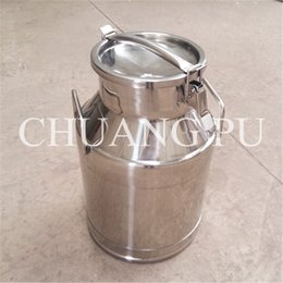 Wholesale 25L Stainless Steel Transport Can SUS201 Material Milk Collecting Pail Milk Transport Equipment for Dairy Factory