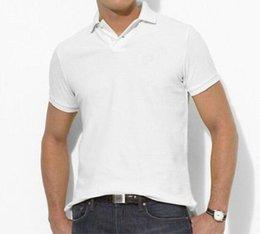 Wholesale BIG Sale Pony polo shirts Men s T shirt Custom fit cotton polo Horse shirt lapel shirt Golf Racing men polos