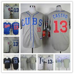 Chicago cachorros 13 Starlin Castro jersey blanco 1909 1988 azul 1994 crema  1969 .