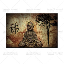 Hot Large Buddha Painting Wall Pictures for Living Room Canvas Prints Artwork Wall Paintings Home Decorative -- Wall Art Canvas