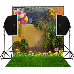 air balloons garden flowers scenic photography backdrops for wedding camera fotografica digital cloth studio prop photo background vinyl