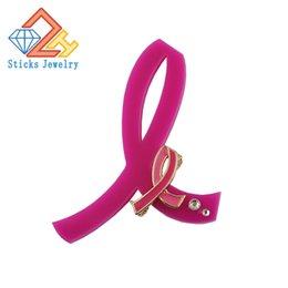 Acheter en ligne Ruban rose sein-Lutte contre le sida, broche en émail acrylique et en alliage Pink Ribbon Factory cadeaux promotionnels directs en ligne Livraison gratuite pour prévenir le cancer du sein