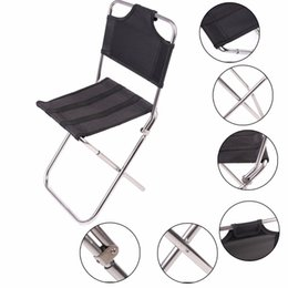 Wholesale PC Portable Outdoor Fishing Folding Chairs Garden Picnic Camping Black Aluminum Home Furniture Stackable