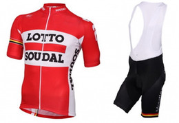 2016 LOTTO SOUDAL TEAM RED L46 Short Sleeve Cycling Jersey Bike Bicycle Wear + BIB Shorts Size XS-4XL