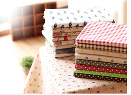 Wholesale Floral printed cotton fabric grid of tow ideas linen linen calligraphy manual package of cloth background fabric sofa