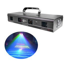 Wholesale Super Bright Laser Stage Lighting mw RGBY Lens Beam Laser Projector Professional DJ Lighting Equipment Party Club Studio Bar