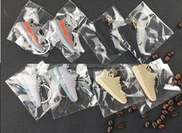 Wholesale Mix Cute Silicone Boost Key Chain Sneaker Keychain Kids Key Rings Key Holder for Woman and Girl Christmas Gifts