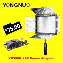 Vente en gros-YONGNUO YN300 III YN-300 III 3200k-5500K photo caméra vidéo LED avec adaptateur secteur adapté pour mariage à partir de conduit vidéo d'éclairage fabricateur