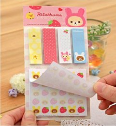 Wholesale Rilakkuma post it sticky notes stickers kawaii paper notes notepad animal stationery for children students office supplier Scrapbook B0014