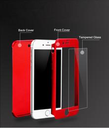 2017 iphone vidrio de alta calidad Ultrafina híbrido de 360 grados de cuerpo completo funda protectora de la caja con el protector de la pantalla de vidrio templado para el iPhone de Apple 6 6S 7 más de alta calidad barato iphone vidrio de alta calidad