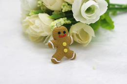 Wholesale 30pcs Gingerbread Man Men Hand Made Christmas Cookie Christmas D Polymer clay Cookie flat back kawaii Cabochon