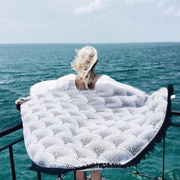 150*150cm Summer Round Beach Towel with Tassels Polyester Reactive Printing Circle Beach Towels Shawl Sandy Picnic Mat Blanket