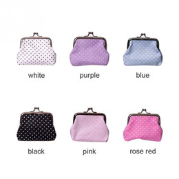 High quality Linen Dot coin purse Women fashion wave stripe coin purse,Faux Leather zero wallet,lovely girl coins purse wallet