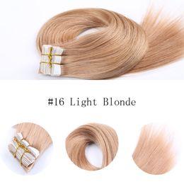 Hot Selling Brazilian Human Hair PU Tape Skin Hair Extensions Grade 8A Human Hair Extensions 20 pcs free Shipping