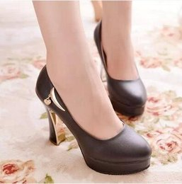 The new spring and summer the single shoes lighter thick with lady high pure color with waterproof Taiwan lady shoes