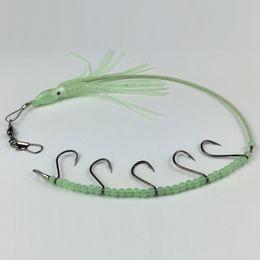 Acheter en ligne Poissons de silicone pour la pêche-33cm 7g Luminous crochet de pieuvre crochet Silicone leurres doux appâts 1 # Hook Fishing Lure Hooks artificielle Pesca Tackle