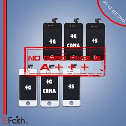 Écrans 4s à vendre-Pièce de rechange de numériseur de l'écran tactile d'écran de l'unité d'assemblage de la catégorie A +++ pour l'iphone 4 4G 4S expédition libre de DHL