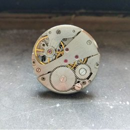 Old silver steampunk mechanical ring