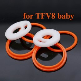 Wholesale 100sets high quality tfv8 baby o ring silicone seal o ring for tfv8 baby tank set