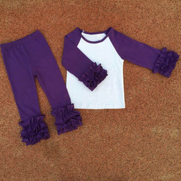 Wholesale hot selling Icing Ruffle Shirt Boutique Organic Cotton Baby boy girls Clothes Made In China Yiwu Market