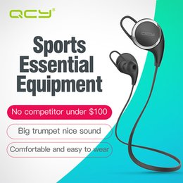 100% Original QCY QY8 sports headphones wireless bluetooth 4.1 earphones aptX headset with Mic calls mp3 music earbuds wholesale