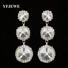YFJEWE New Arrival Jewelry Top Quality Rhinestone Crystal Drop Earring for Women Wedding Fashion Jewelry Gift for Girls E293
