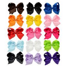 Fille accessoires pour cheveux clips en Ligne-15 couleurs 6 pouces de mode bébé ruban épingle à cheveux épingles petites filles bowknot Barrette enfants cheveux boutique arcs enfants cheveux accessoires KFJ102