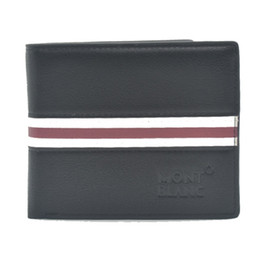 Wholesale 2017 Luxury brands Blanc Vintage Mens Wallets Best quality Leather High quality Travel Purse Fine Bifold Credit Card Front Pocket Man Wallet